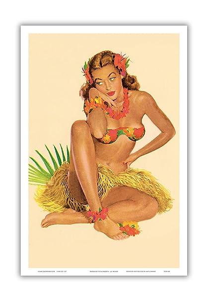 Nude hawaiian pin up girl — pic 14