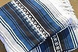 Galaxy Reborn Mexican Blanket Handwoven XLarge Falsa Alpine Navy Blue 81 X 58 SUPER HEAVYWEIGHT Premium Throw
