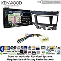 Volunteer Audio Kenwood Excelon DNX694S Double Din Radio Install Kit with GPS Navigation System Android Auto Apple CarPlay Fits 2008-2015 Mitsubishi Lancer