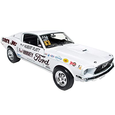 "1968 Ford Mustang S/S Cobra Jet Hubert Platt Class of 68"" 50th Anniversary of The Ford Cobra Jet Limited Edition to 1002 Pieces Worldwide 1/18 Diecast Model Car by Autoworld AW247: Toys & Games"