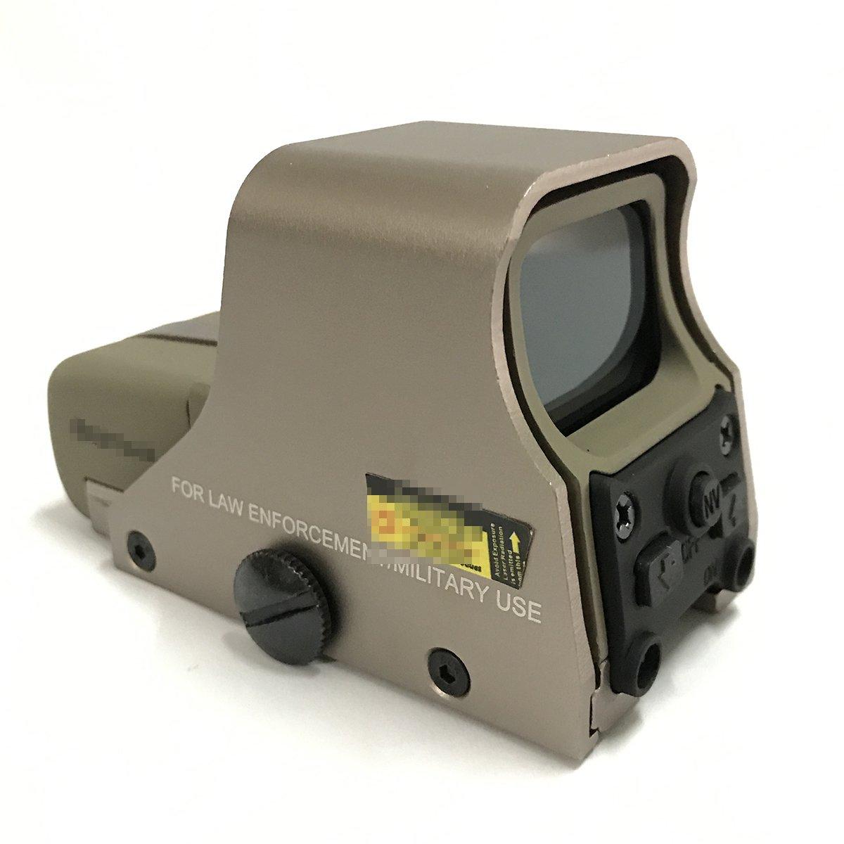 GD Punto rojo y verde Tactical Airsoft 551 Rifle Scope Sight 10 Levels Brillo Se adapta a cualquier riel de 20 mm