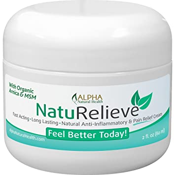Organic Arnica & MSM Natural Pain Relief Cream Without All the Chemicals   Topical Analgesic  Other