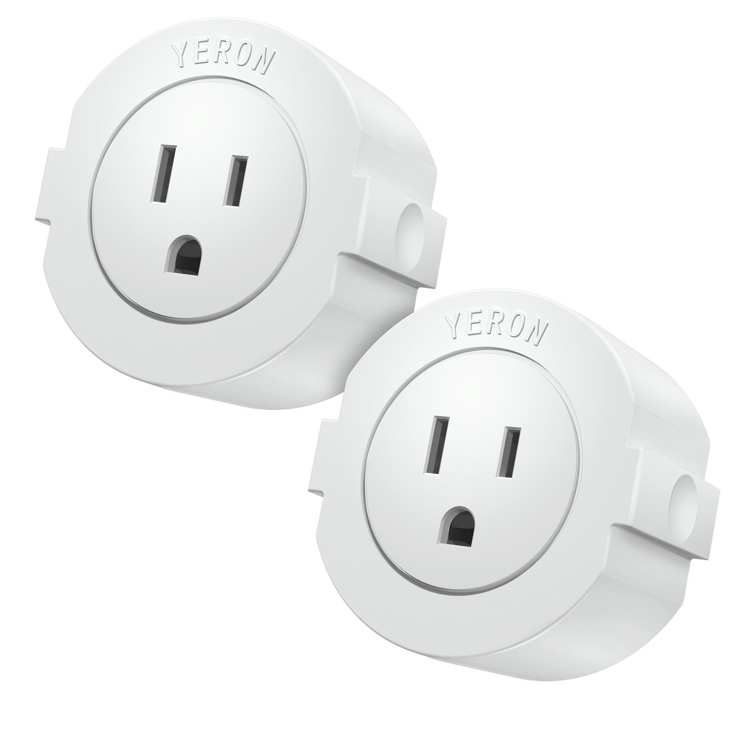 Wi-Fi Smart Plug Mini Outlet with Energy Monitoring and Timer function, Compatible with Alexa, Google Home and IFTTT, No Hub Required, ETL listed, White,2-Pack.