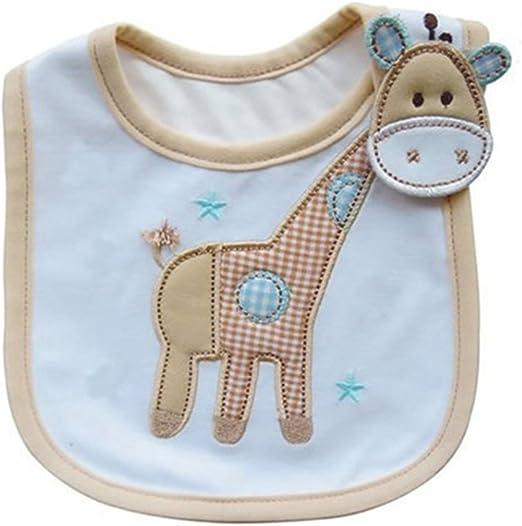 Hosaire Babero Impermeable del beb/é Reci/én Nacido Bufandas de Algod/ón Dise/ño de Animales para Beb/és