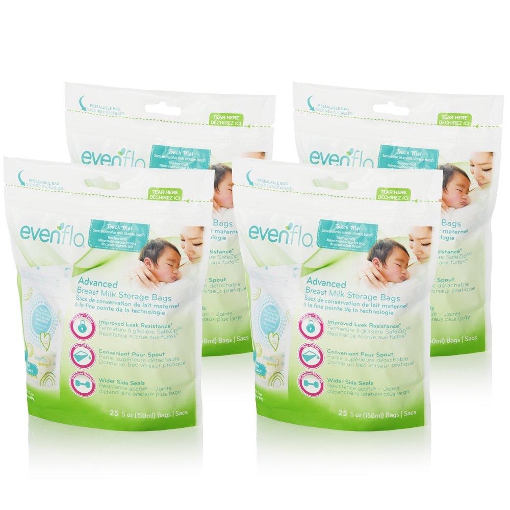 Evenflo Feeding Advanced Breast Milk Storage Bags for Breastfeeding - 5 Ounces (100 Count) by Evenflo Feeding (Image #2)