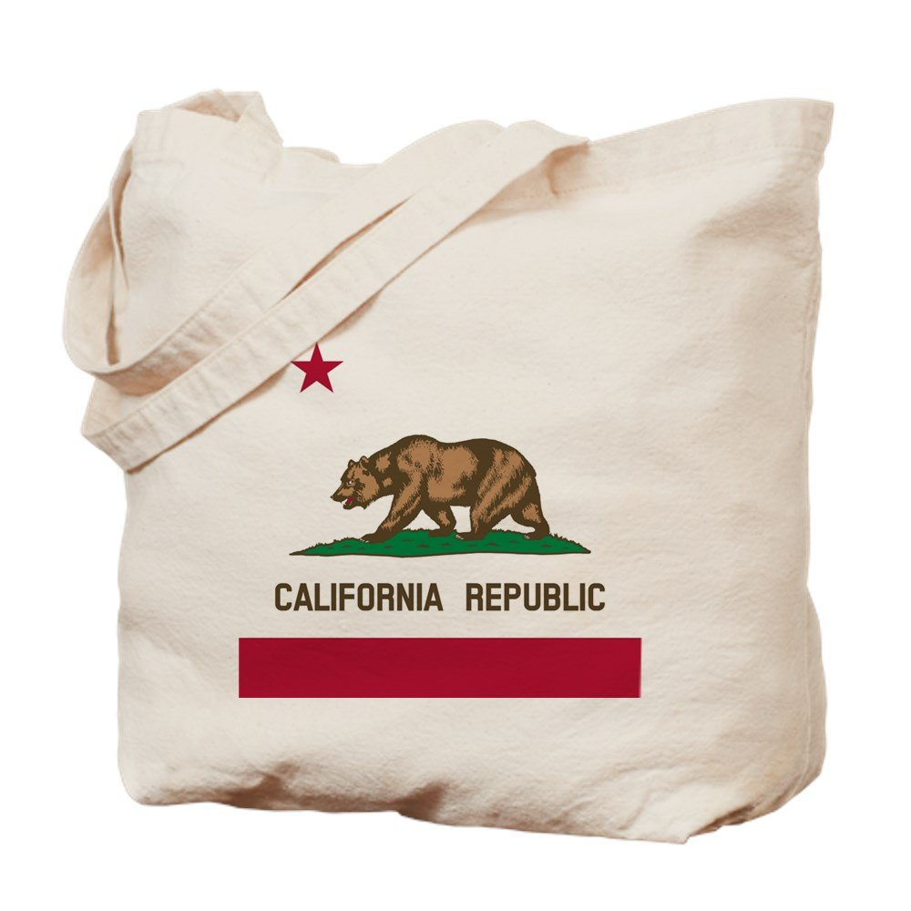 CafePress - Flag Of California - Natural Canvas Tote Bag, Cloth Shopping Bag