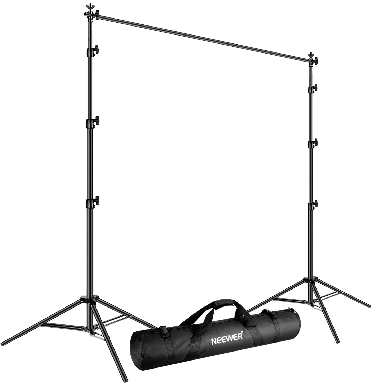 Neewer Adjustable Backdrop Support System Includes 4-8.5 feet/120-260 centimeters Background Stand and 9.8 feet/3 meters Cross Bar with Carrying Bag for Studio Video Photography (Aluminum Alloy) by Neewer