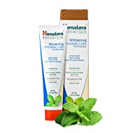 Himalaya Whitening Toothpaste - Simply Peppermint 5.29 oz/150 gm (1 Pack), Natural, Fluoride-Free & SLS Free