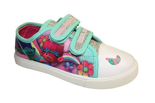 Trolls Zapatillas de Lona de Lona Chica, Color Turquesa, Talla 25,