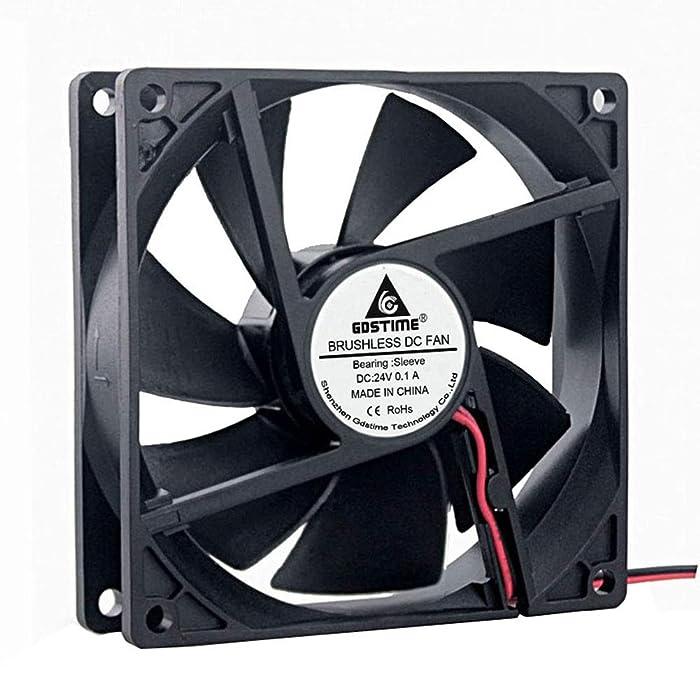 GDSTIME 90mm Fan 24V, 92mm x 92mm x 25mm Brushless Cooling Fan