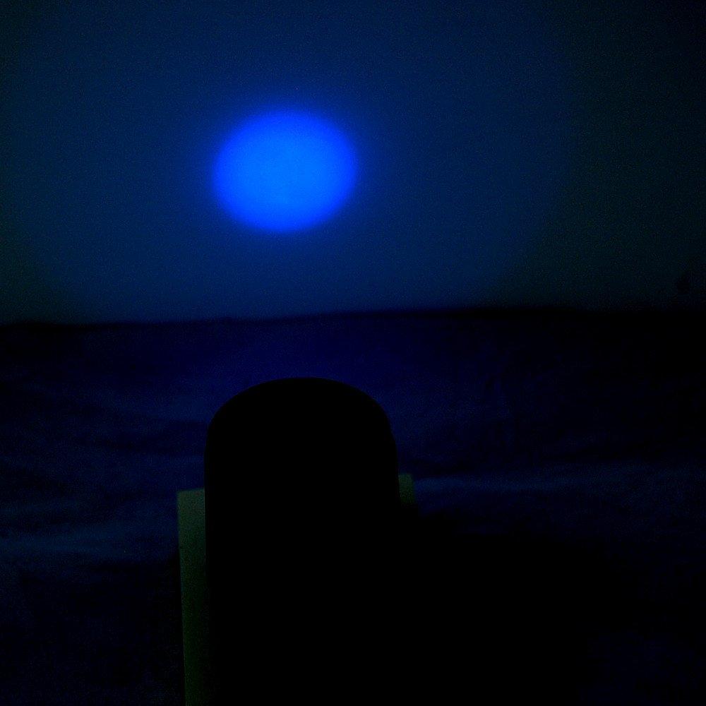 HQRP High Power Professional 365 nM Powerful 1 Watt UV LED Ultraviolet Gemstone and Mineral Inspection/Identification / Fluorescence/Glow Flashlight/Blacklight plus HQRP UV Meter by HQRP (Image #5)