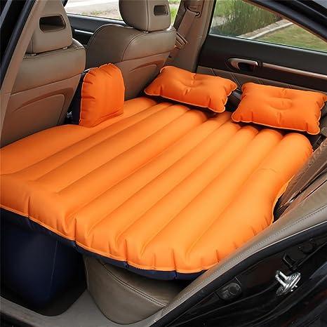 RUIRUI Oxford Coche Cama Inflable colchón Airbed SUV Universal Respaldo cojín el Dormir, Orange Oxford