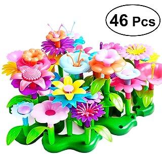 STOBOK 46pcs Bouquet Floral Arrangement Playset Gioca giocattoli educativi Playset per bambini (colore casuale)