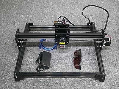 10W DIY Laser Engraver Laser Engraving Machine Engraving size:3040CM Fixed Focus Black Color for 201,304,Stainless,Ceramic,Stone,Metal