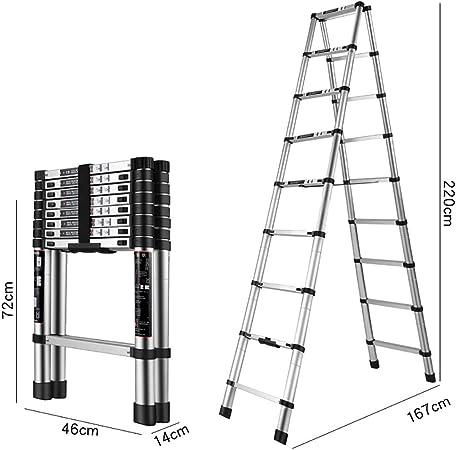 GWXSST Escalera Telescópica Escalera de ingeniería Plegable multifunción Aleación de Aluminio Engrosamiento Escaleras de elevación Escalera telescópica portátil para el hogar (Tamaño : 220cm): Amazon.es: Hogar