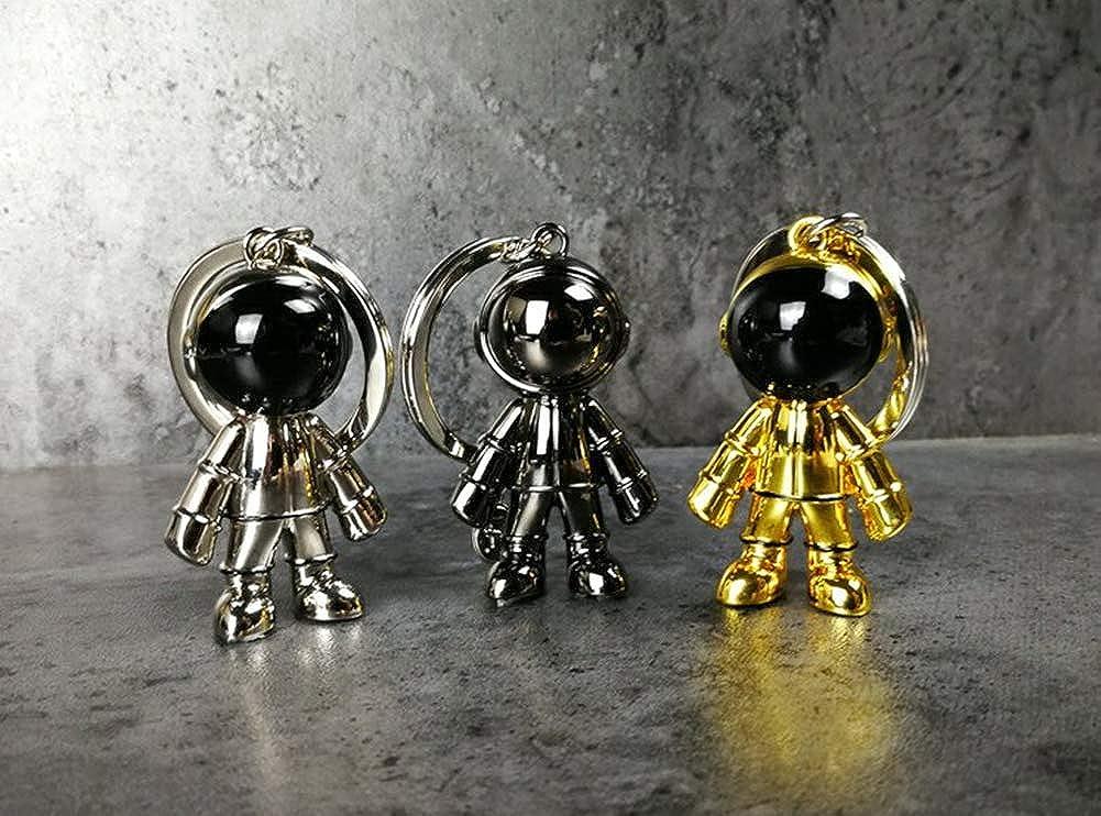 Space Robot Keyring for Men Women Car Key Holder Cool Astronaut Keychain Pendant Bag charm,Gifts for Lover Boys Girls