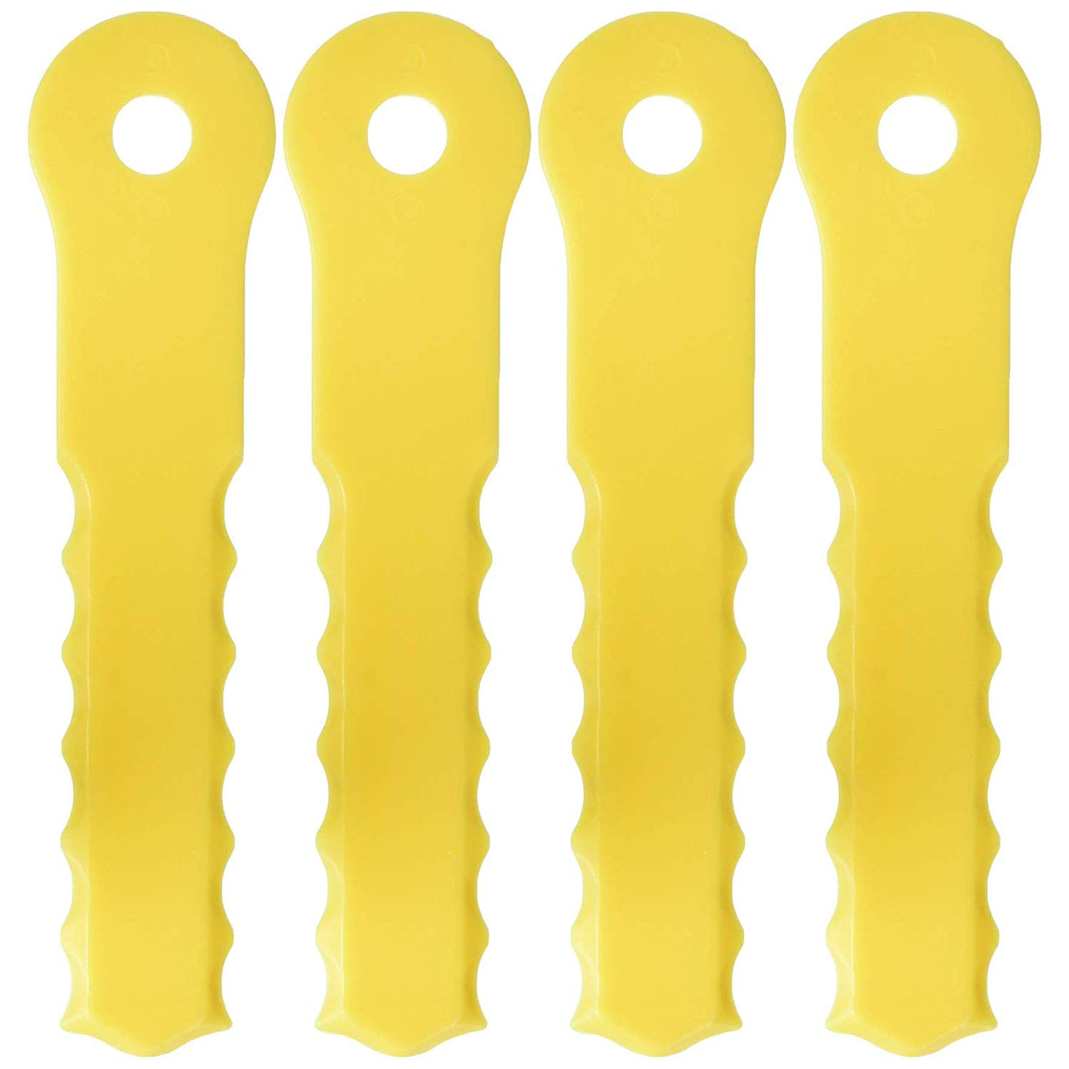 One Size Yellow Weed Warrior 70289A Replacement Push-N-Load 3 Blade Head-70289A Pack of 2