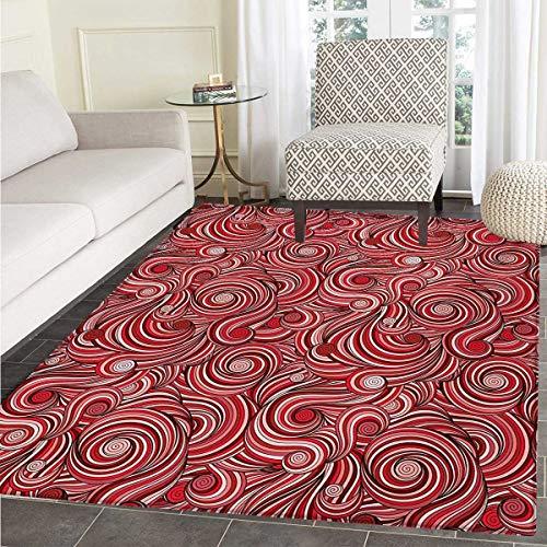 Asian Bath Mats Carpet Modern Autumn Season Wavy Holiday Festival Celebration Oriental Artwork Print Floor Mat Pattern 30