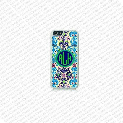 Krezy Case Damask Pattern Monogram iPhone 6 Plus Case, Monogram iPhone 6 Plus Cover, Custom iPhone 6 5.5 inch...