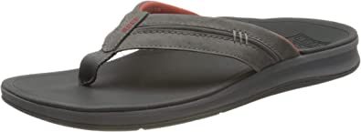 Leather Arch Support Flip Flops for Men Reef Mens Sandals Leather Ortho-Bounce Coast