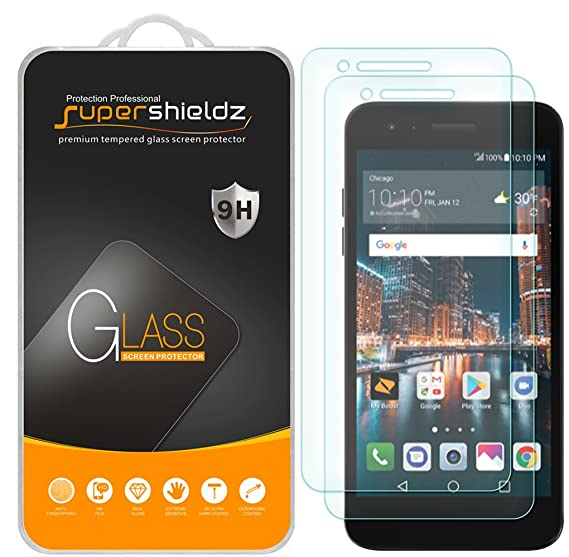 [2-Pack] Supershieldz for LG Tribute Dynasty Tempered Glass Screen  Protector, Anti-Scratch, Bubble Free, Lifetime Replacement