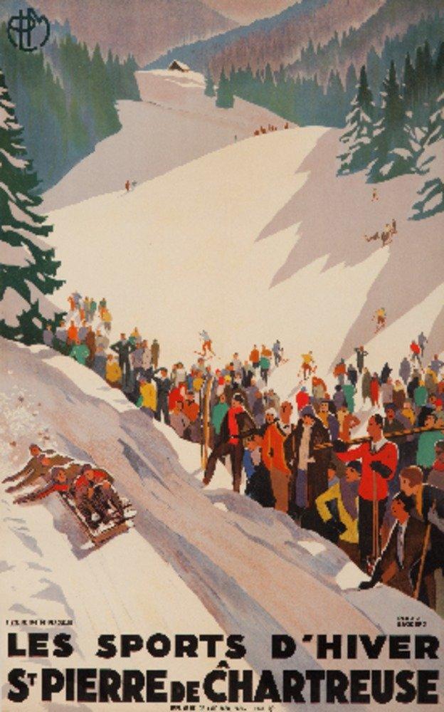 LesスポーツD 'hiver – St Pierre De Chartreuseヴィンテージポスター(アーティスト: Broders , Roger )フランスC。1930 36 x 54 Giclee Print LANT-60231-36x54 36 x 54 Giclee Print  B01MG3VJAP