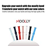MOOLLY for Watch Band 42mm 44mm, Soft Silicone