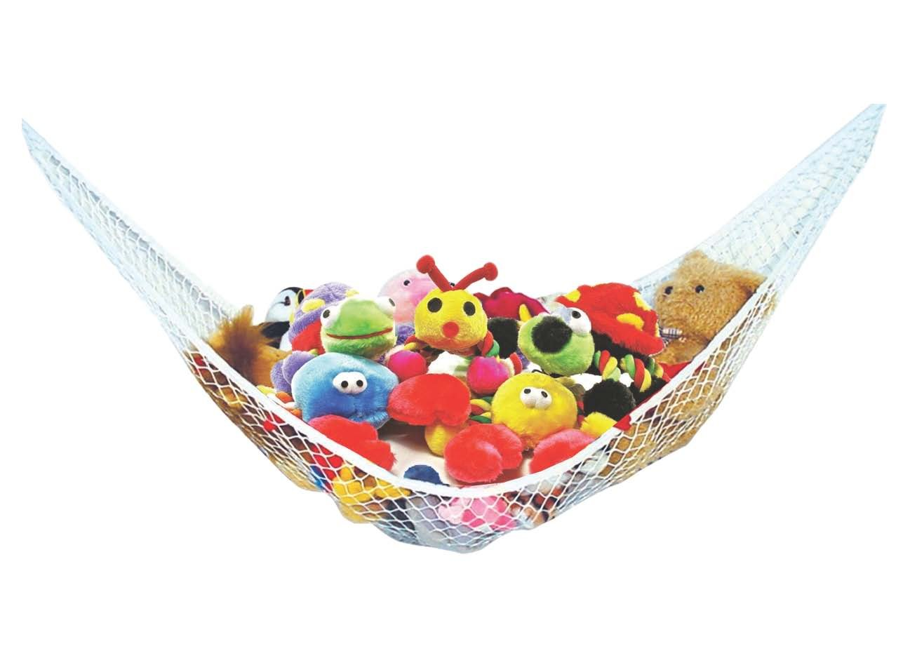 Stuffed Animal Toy Hammock - Best for keeping rooms clean, organized and clutter-free - Comes with BONUS FREE E-Book, Toy Organizer Storage Net is Durable and Easy to Install