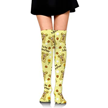 Calcetines Altos Men Women Cute Hamster Over Knee High Socks Team Running Stocking Athletic Outdoor Sports