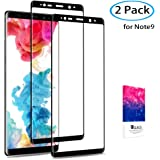 Samsung Galaxy Note 9 Screen Protector, COREFYCO Full Coverage Screen Protector (2-Pack) Tempered Glass Screen Protector 3D Curved/HD Clarity/Case Friendly Compatible with Samsung Note 9