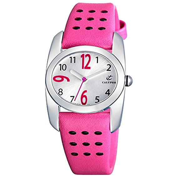 Calypso UK5195/3 - Reloj para niñas, correa de plástico color rosa: Amazon.es: Relojes