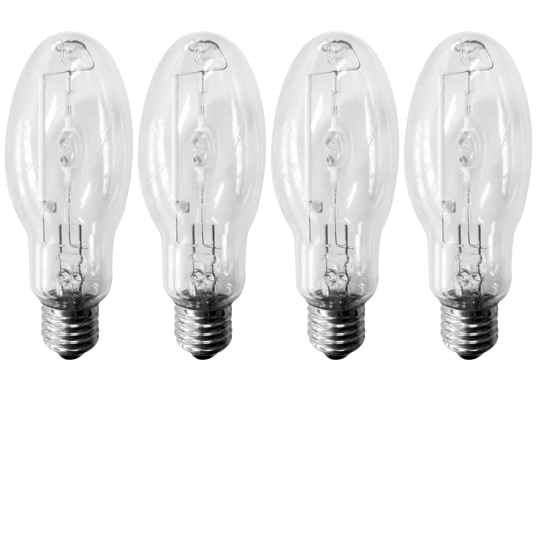 Luxrite LR20655 E26 Medium Base 12000 Lumens Cool White 4000K 4-Pack MH150//U//ED17 150-Watt HID Metal Halide Light Bulb