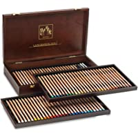 CREATIVE ART MATERIALS Caran D'ache Luminance Colored Pencil Sets Set of 80 Wood Box (6901.476)