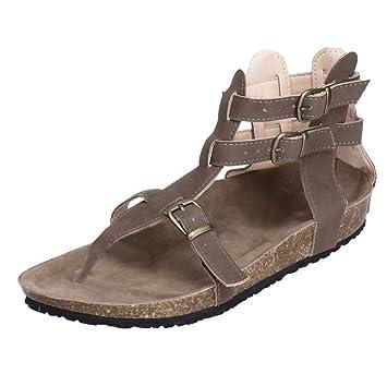 Sandalen Sommer Pantoffeln Strand Mode Outdoor Schuhe Weiß, Schwarz, Braun stilvoll (Farbe : Braun, größe : EU36/UK4/CN36)