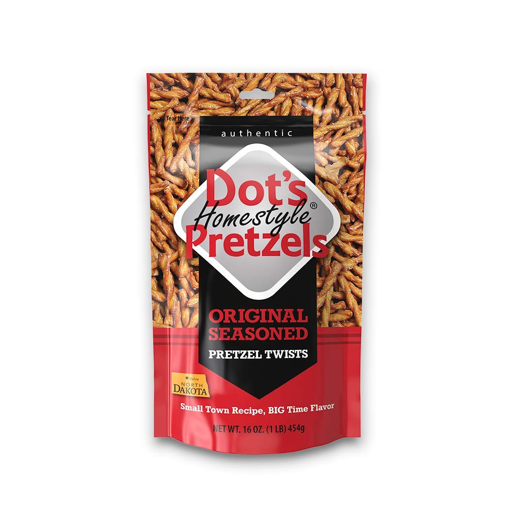 Dot's Homestyle Pretzels 1 lb. Bag (5 Bags) 16 oz. Seasoned Pretzel Snack Sticks (Packaging May Vary)