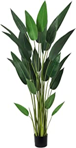Artiflr 5.3Ft Artificial Bird of Paradise Plant Fake Tropical Palm Tree with 25 Detachable Trunks Faux Tropical Plant Tree for Indoor Outdoor, Perfect for Home Office Garden Store Decoration