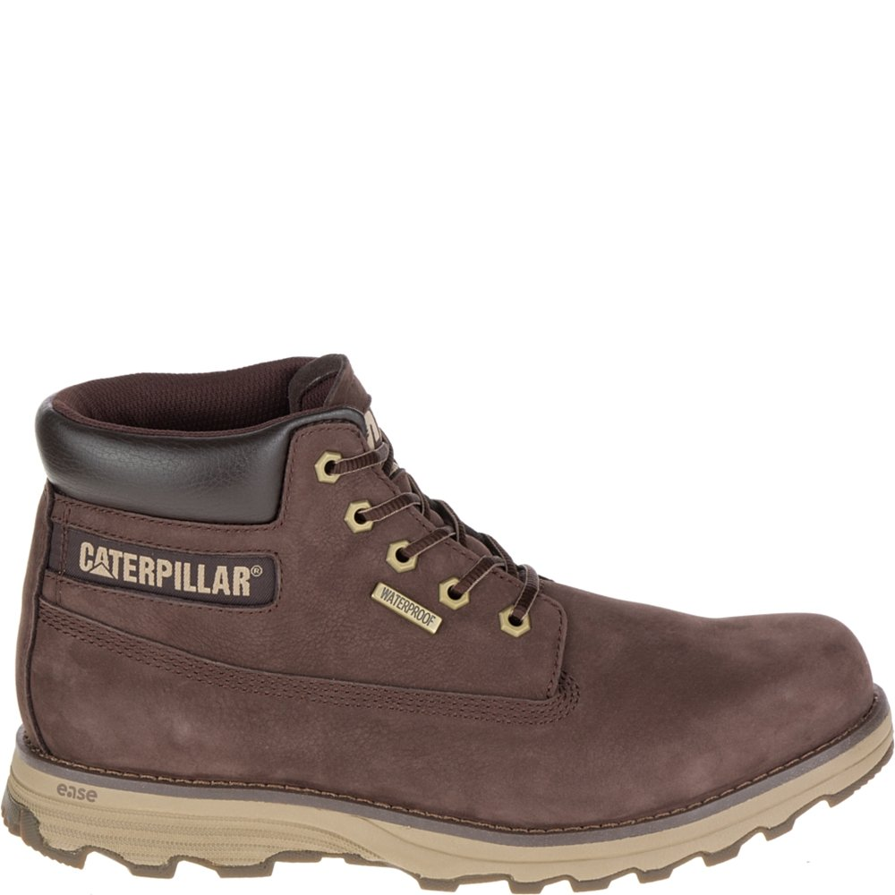 Caterpillar Mens FOUNDER WP Soft toe Lace Up Leather Safety Shoes B074QT96L5 15 D(M) US|コーヒービーン コーヒービーン 15 D(M) US