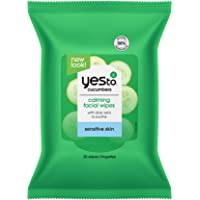 Yes To, Cucumbers Hypoallergenic Facial Wipes Remove Dirt and Makeup, Vegan Friendly, 30 Wipe Quad Pack