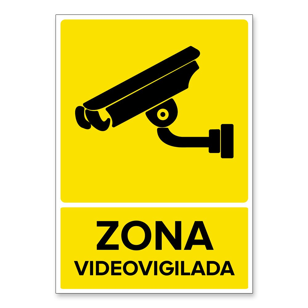 Señal Zona Videovigilada | Señalética en Material Aluminio ...
