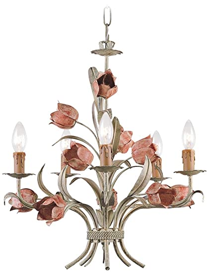 Southport 5 light candle chandelier tulip chandelier amazon southport 5 light candle chandelier aloadofball Choice Image