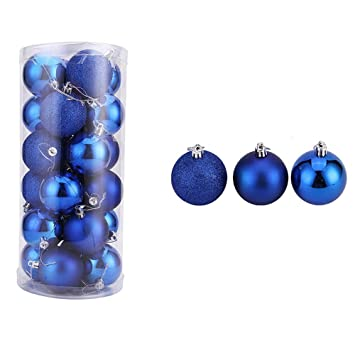 24pcs christmas party balls for christmas tree ornaments home birthday party garden decoration balls navy