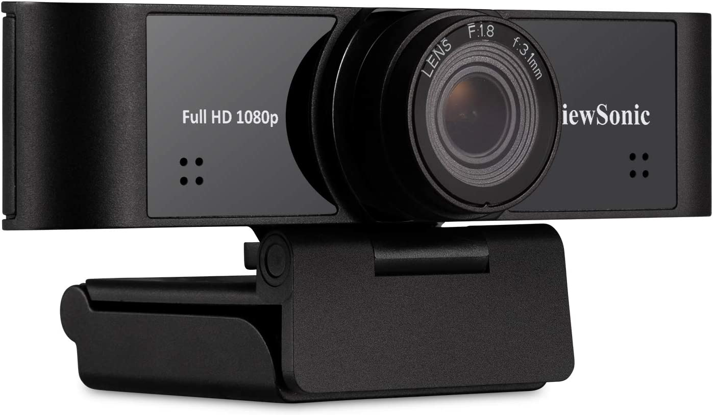 ViewSonic VB-CAM-001 1080p Ultra-Wide USB Camera with Built-in Microphones Compatible with Windows and Mac