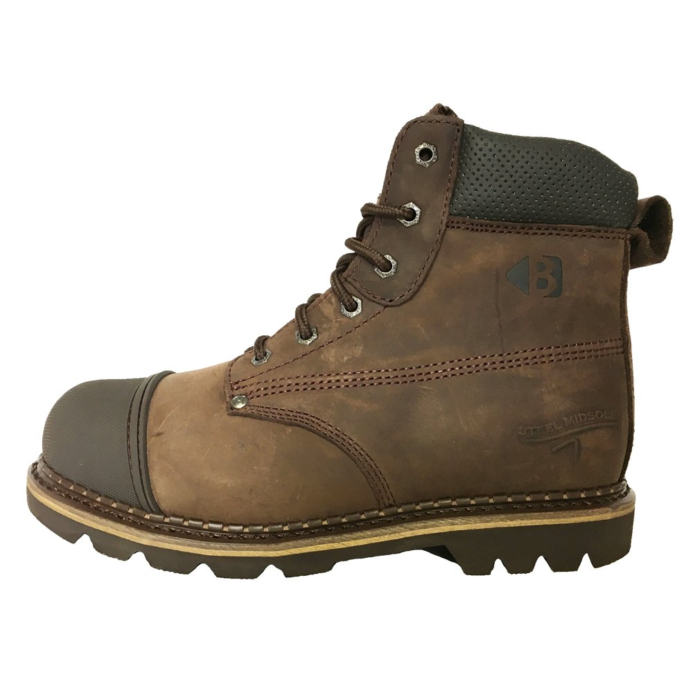 4a536f11b86 Buckler B301SM Steel Toe & Midsole Chocolate Safety Lace Work Boots ...