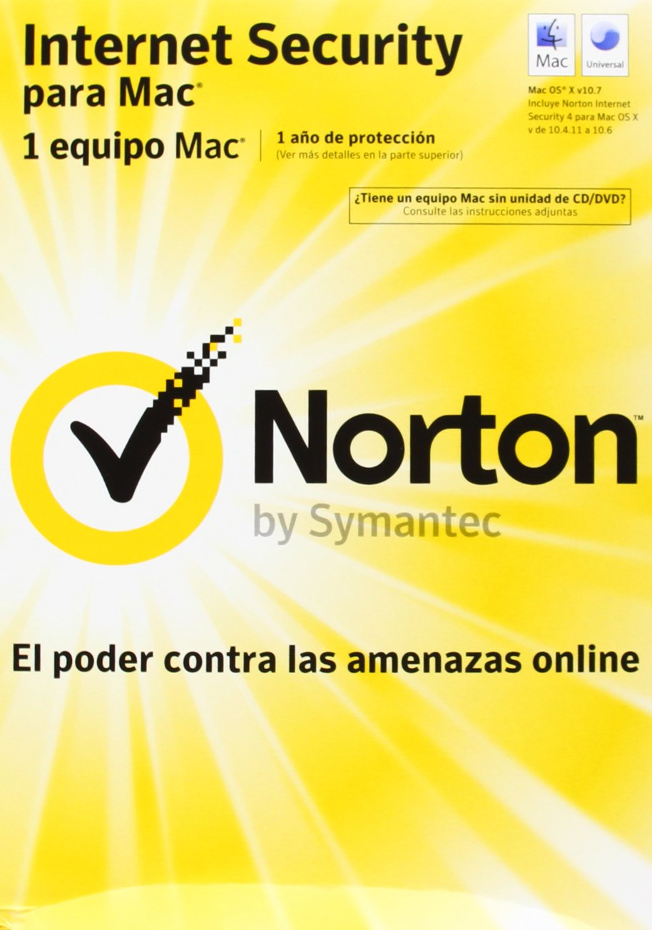Norton Internet Security - Paquete Completo, Estándar, Versión 5.0, Para Mac, Español, 1 Usuario: Amazon.es: Software