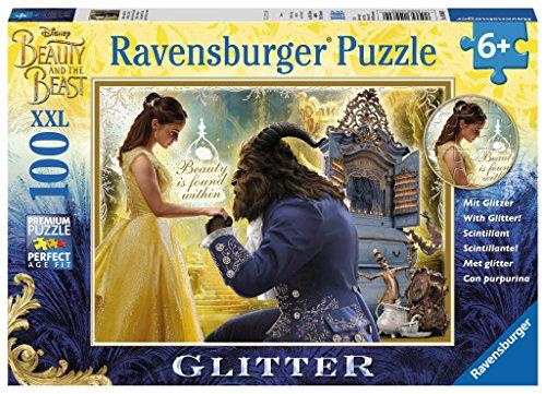 Ravensburger Disney Beauty & The Beast XXL 100 Piece Glitter Jigsaw Puzzle