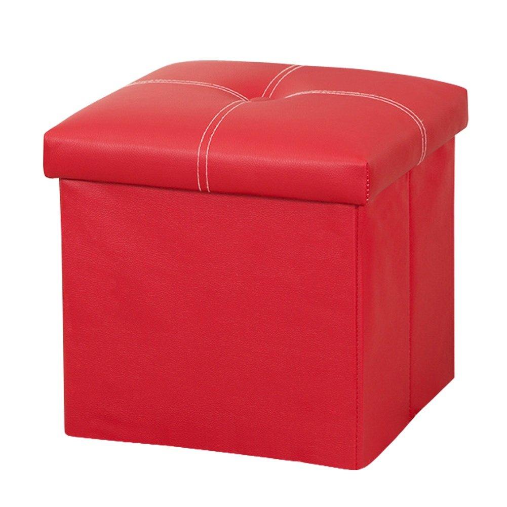 Enjoyable Amazon Com Dasior Faux Leather Storage Ottoman Cube Solid Uwap Interior Chair Design Uwaporg