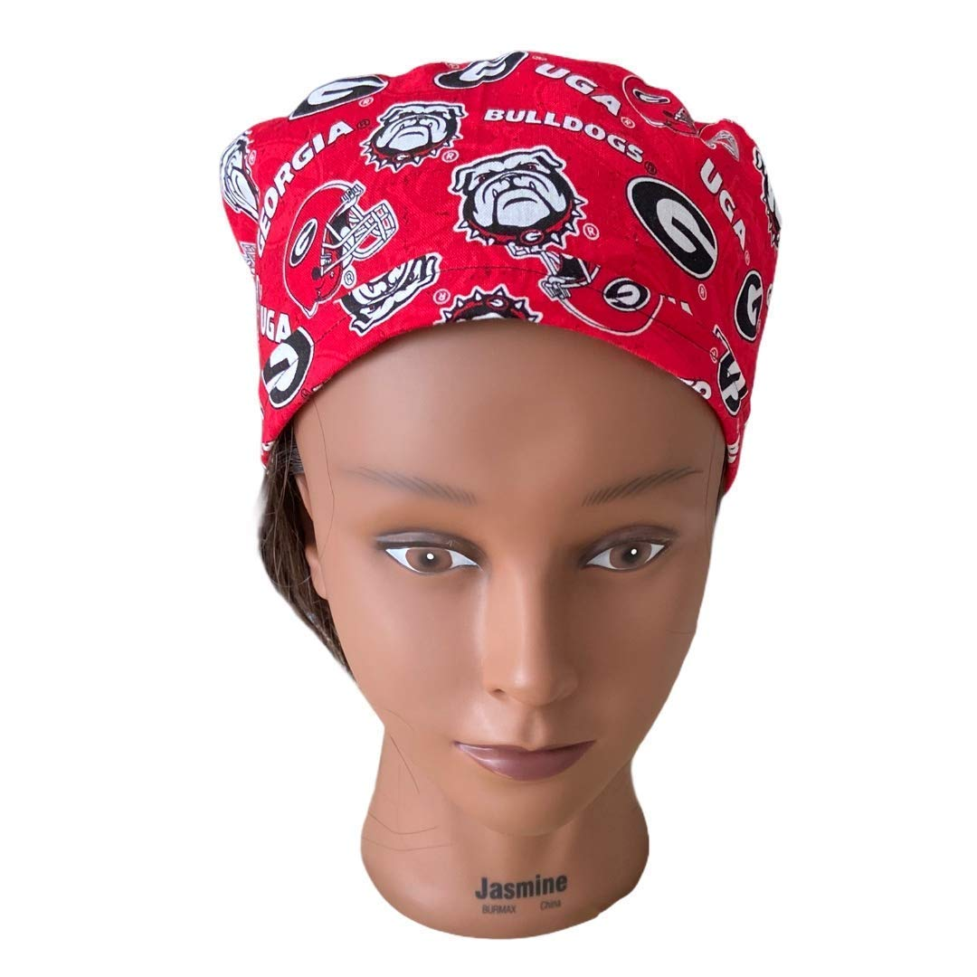JA Unisex Georgia Bulldogs Surgical Skull cap//surgical cap//painters hat//bikers hat