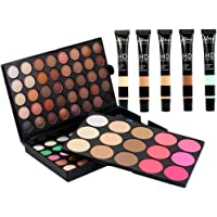 Baosity 5 Colores Crema Líquida de Corrector Contorno de Ojo Herramienta de Belleza Cosmética + 95 Colores Paleta de Maquillaje