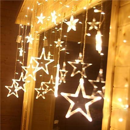 Curtain String Lights, KEEDA 8 Modes 138 LEDs Smart Fairy Star Window Decor  Lighting For