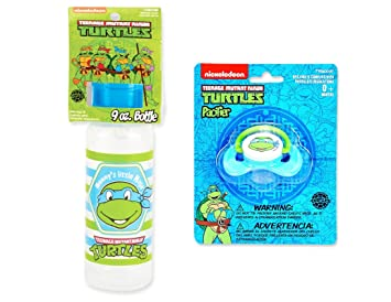 Amazon.com : Nickelodeon Ninja Turtles 9 oz Baby Bottle ...